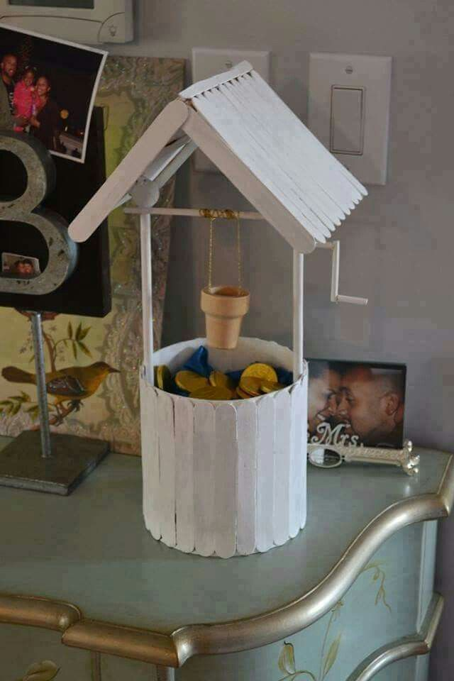 Popsicle Stick Wishing Well