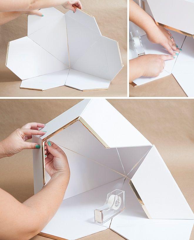 Learn How To Make This Giant Diy Wedding Card Box Diamond Diy Card Box Card Box Wedding Diy Card Box Wedding