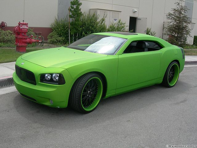 Matte Green Custom Dodge Charger Dodge Charger Dodge Muscle Cars