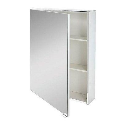 Armario de baño con espejo Remix blanco 60x77x14 cm ...