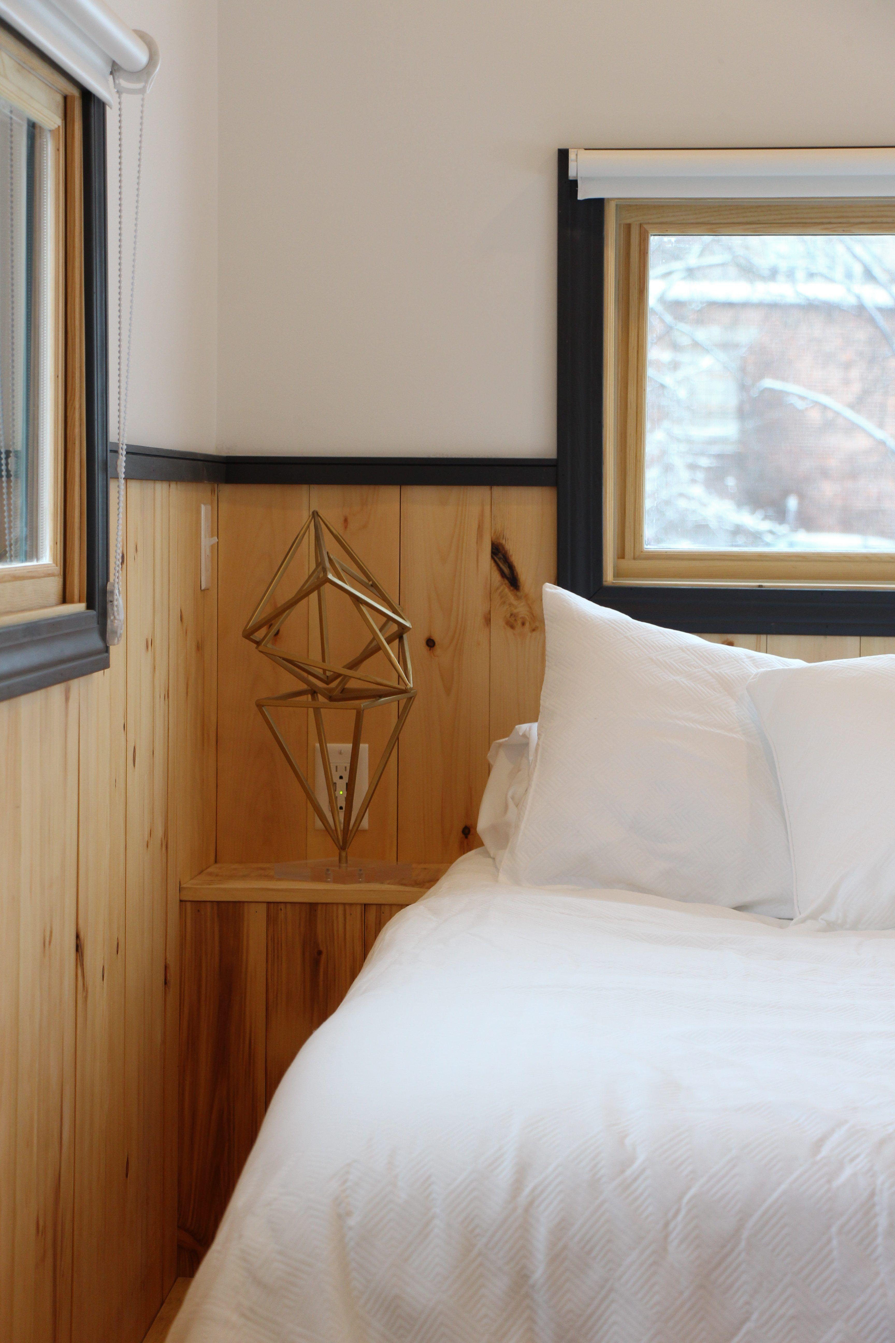 Hudson tiny house 170 SF bedroom with builtin