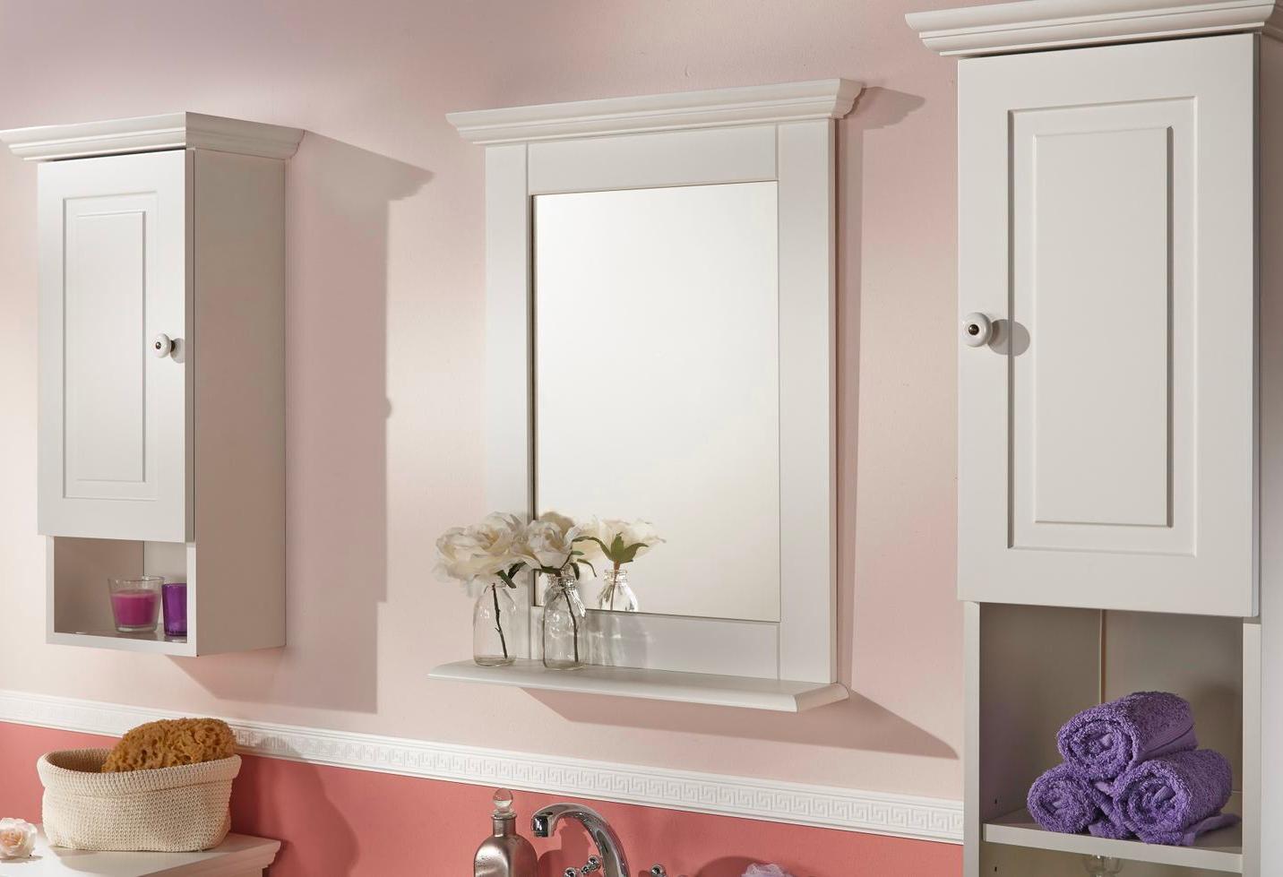landhausstil f r dein badezimmer der spiegel mit wei em. Black Bedroom Furniture Sets. Home Design Ideas