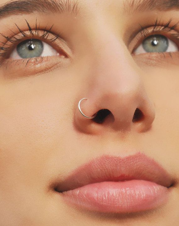 Small Nose Ring-Nose Ring-Silver Nose Ring-Body Jewelry-Tiny Nose Ring-Nose Stud-Cartilage Hoop-Septum Ring-Cartilage Earring-Nose Piercing