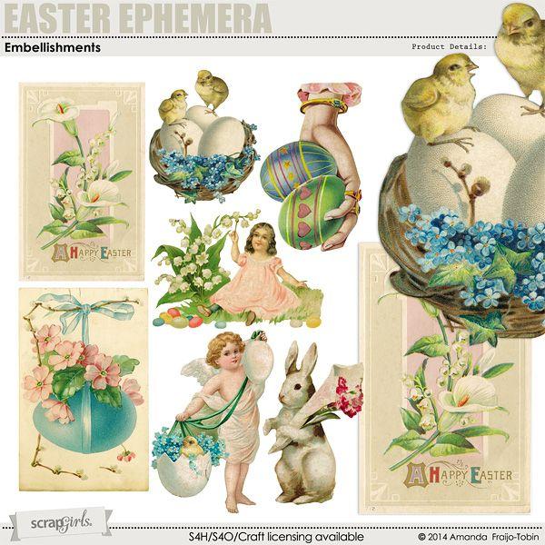 Sold Separately: Easter Ephemera Embellishment Mini