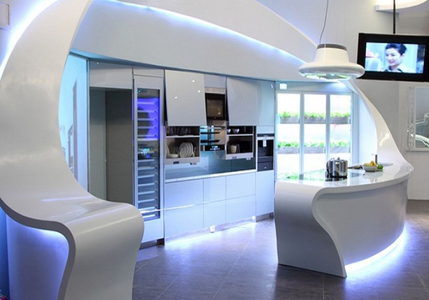 Artificially Intelligent My Dream House Relationship Modern Kitchen Design Futuristic Interior Futuristic Furniture