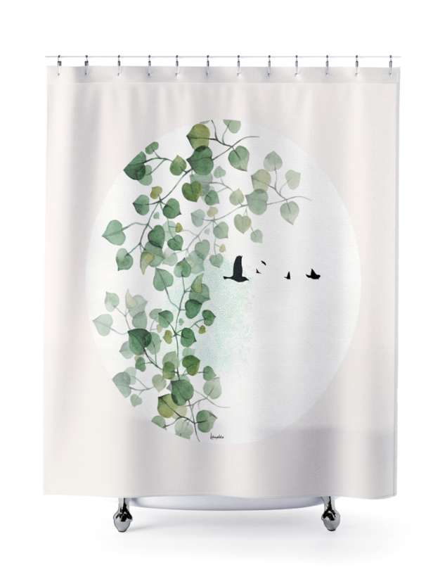 Boho Shower Curtain Leaves Shower Curtain Boho Bathroom Decor