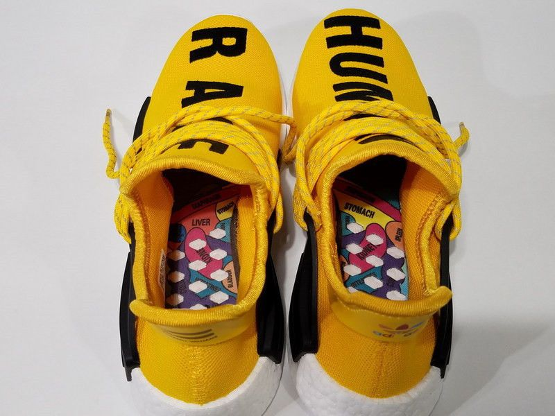 BB0619 ADIDAS X PHARRELL PW HUMAN RACE NMD SZ 11.5 YELLOW DS NEW