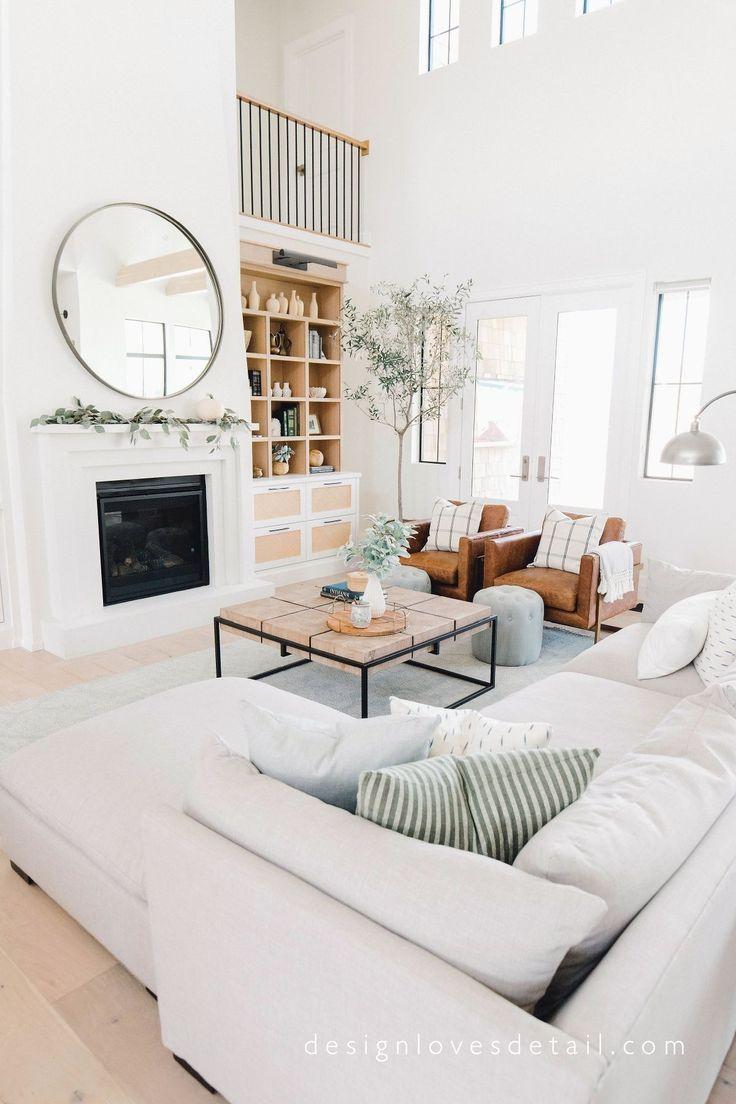 40 Modernes Design und Dekorieren von Wohnzimmermöbeln - Wohnaccessoires Blog #smallmodernfarmhouseplans