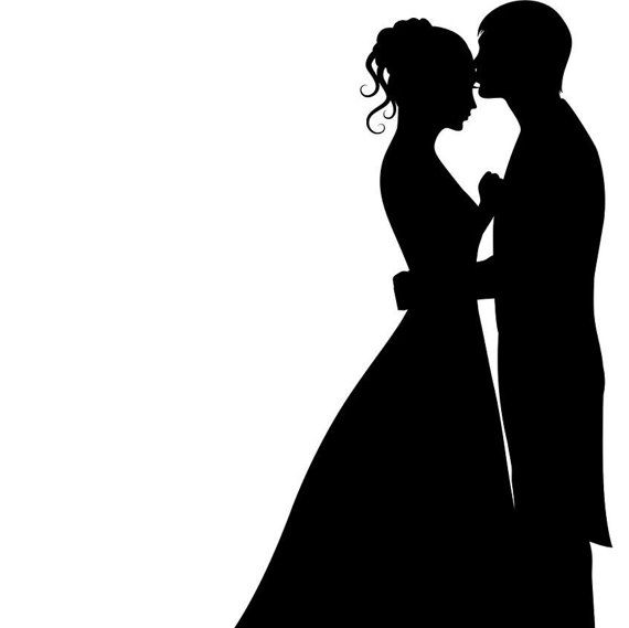 Wedding Cake Topper Silhouette Groom And Bride Acrylic Cake Topper Mariage Illustration Mariage Dessin Image Mariage