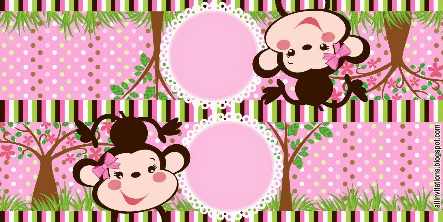 Etiqueta bolsa de dulces Changuita | Bby shower niña | Pinterest ...