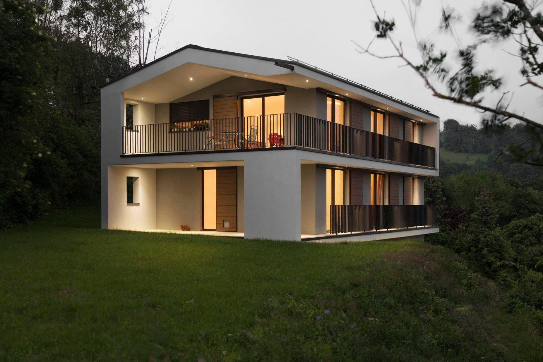Construction d une maison individuelle contemporain sur une