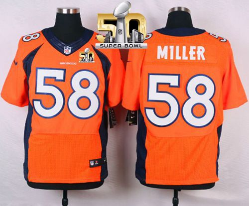 Discount Nike Broncos #58 Von Miller Orange Team Color Super Bowl 50 Men's  free shipping