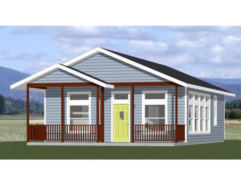 26x34 House 2Bedroom 1Bath 884 sq ft PDF Floor Plan