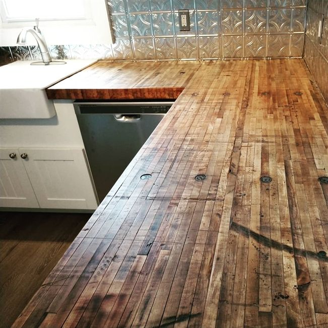 Reclaimed Boxcar Floor 3 Planks Bxlo 87 3001 Rustic Kitchen Cabinets Replacing Kitchen Countertops Rustic Kitchen