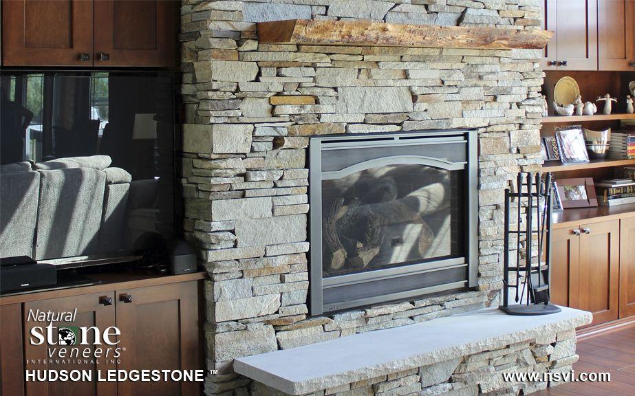 NSVI Hudson Ledgestone Fireplace | New Home- Palatine | Pinterest ...