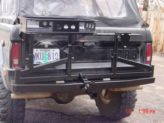 Rear Tire Carrier Rack Bumpers Rugged And Durable This