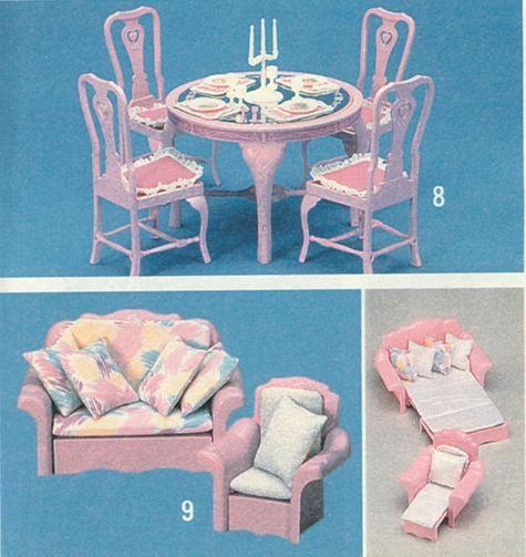 Salon salle à manger barbie | Souvenirs d\'Enfance années 80 ...