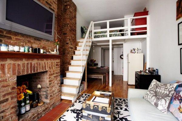 13 Ways To Turn A Tiny Pad Into A Palace Tiny Apartments Small Apartments Nyc Loft