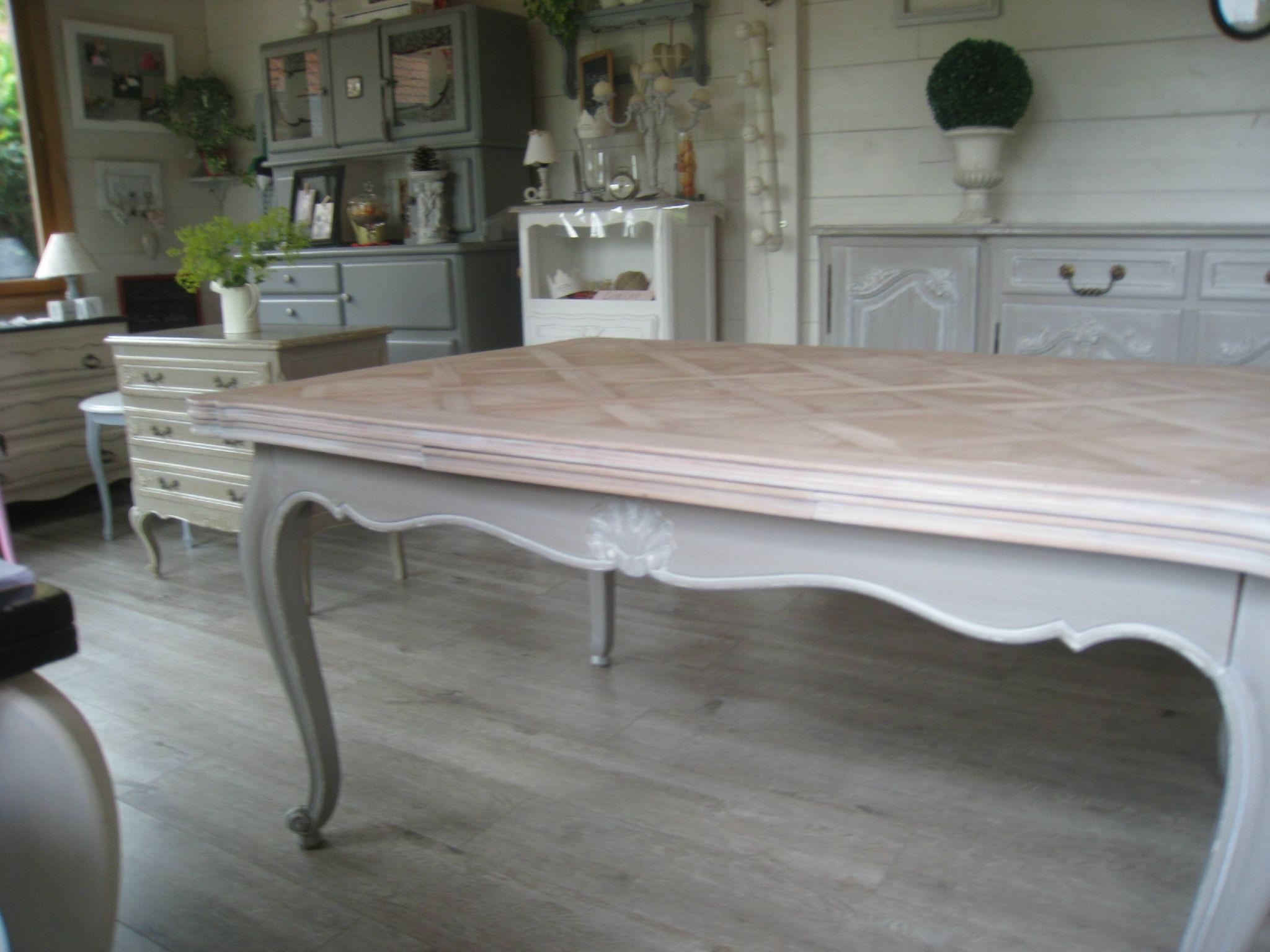 Img 0009 d coration pinterest peinture meuble for Relooker une table de salon