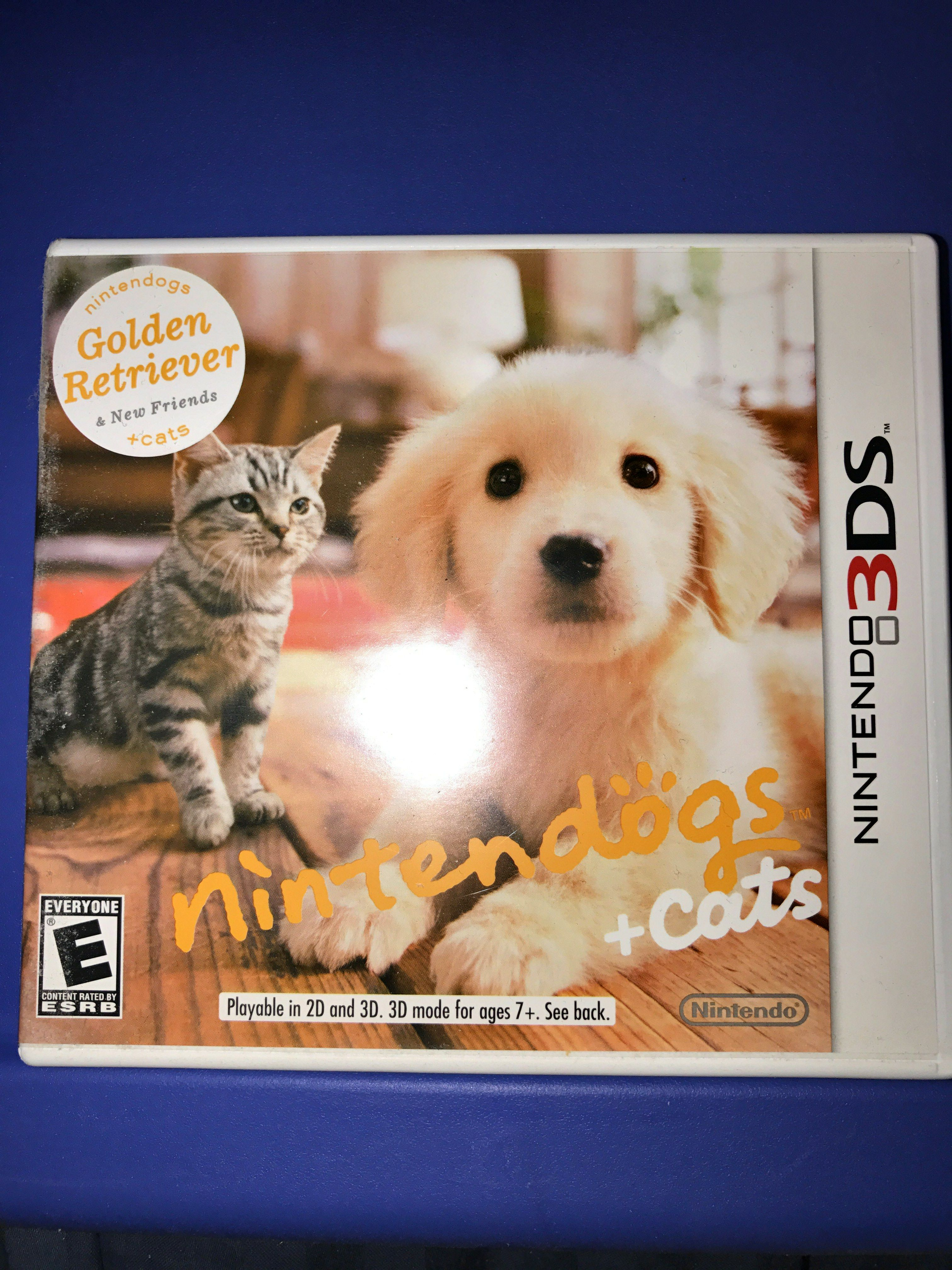 Nintendo 3ds Nintendogs Cats Golden Retriever New Friends
