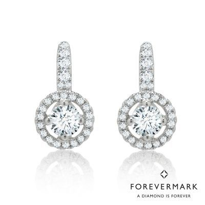 7ffc42011 Forevermark Center of My Universe Diamond Halo Earrings in 18kt White Gold  (1ct tw) DECT0259