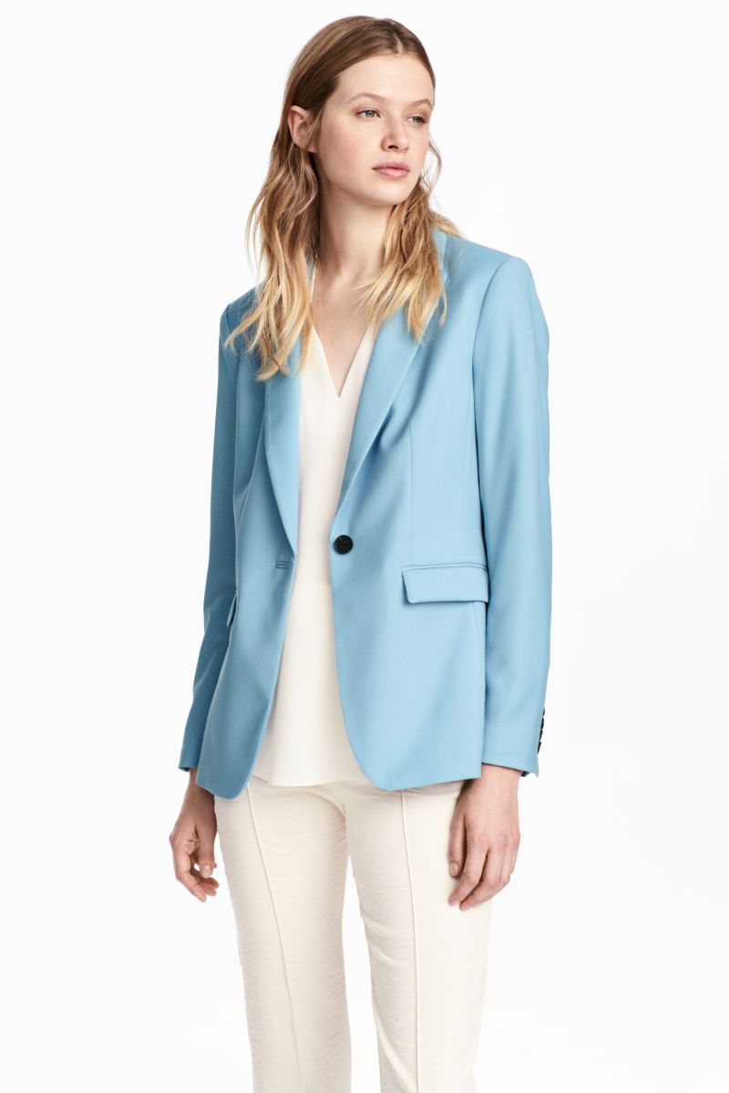 Jacket Light Blue Women H M Us Fashion Clothes Blazer Outfits