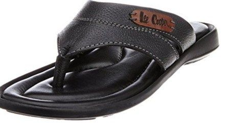 4fe2db87044c Lee Cooper Mens Brown Leather Flip Flops Thong Sandals   Rs.1439 Amazon