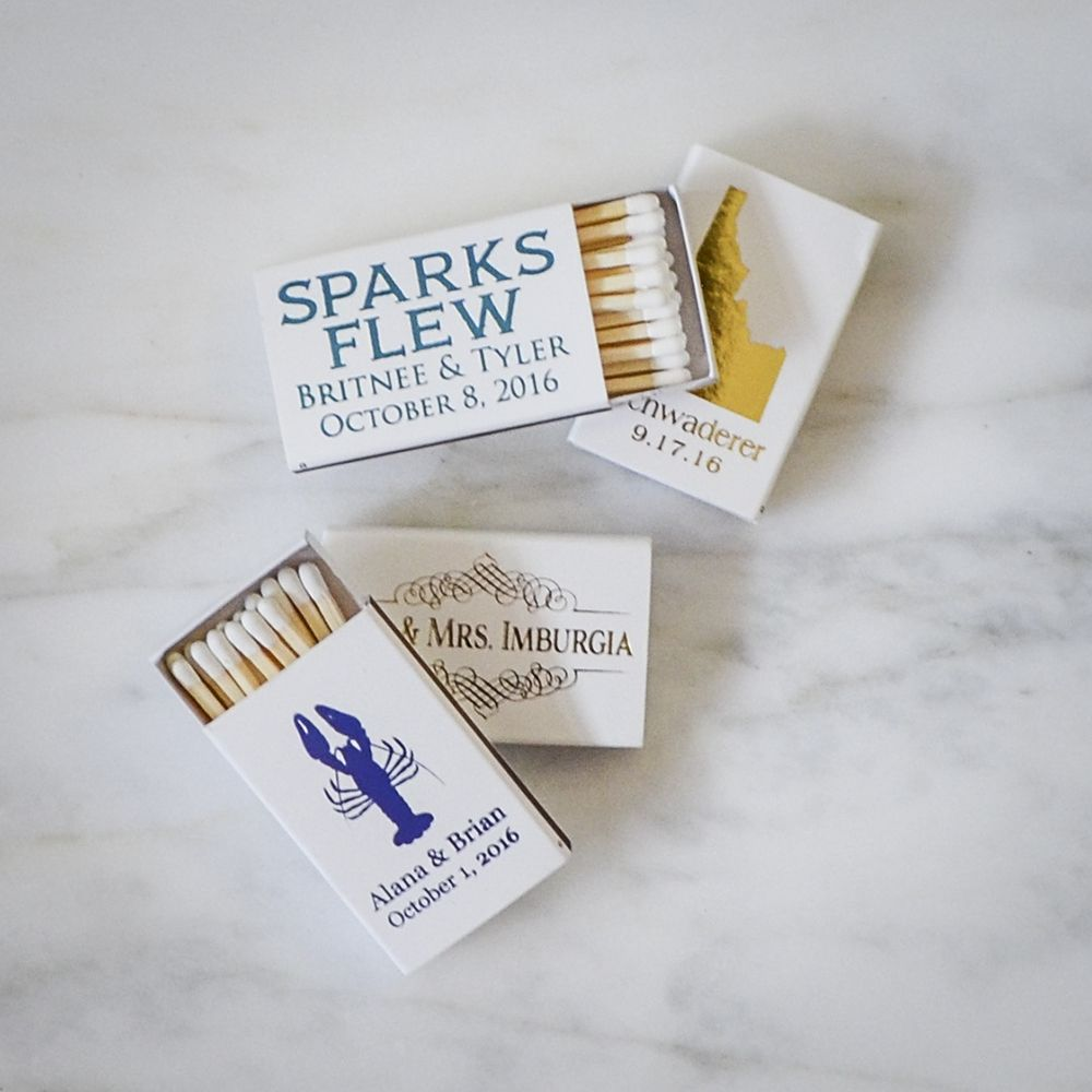 Sparks Flew Custom Wedding Matches, Personalized Sparkler Matches ...