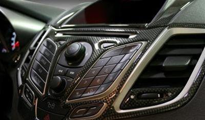 2011 2012 2013 Ford Fiesta Interior Trim Kit Carbon Fiber Ford