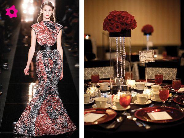 Centro mesa boda rojo y negro boda pinterest sweet 16 parties centerpieces and weddings - Centros de mesa para boda economicos y elegantes ...