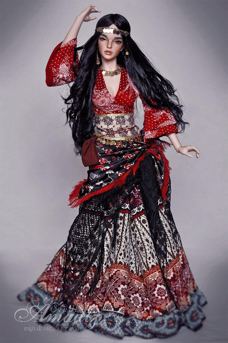 Amadiz Studio куклы Bjd парики и одежда 39 S Photos 7 Albums Vk цыганская одежда цыганская мода цыганки