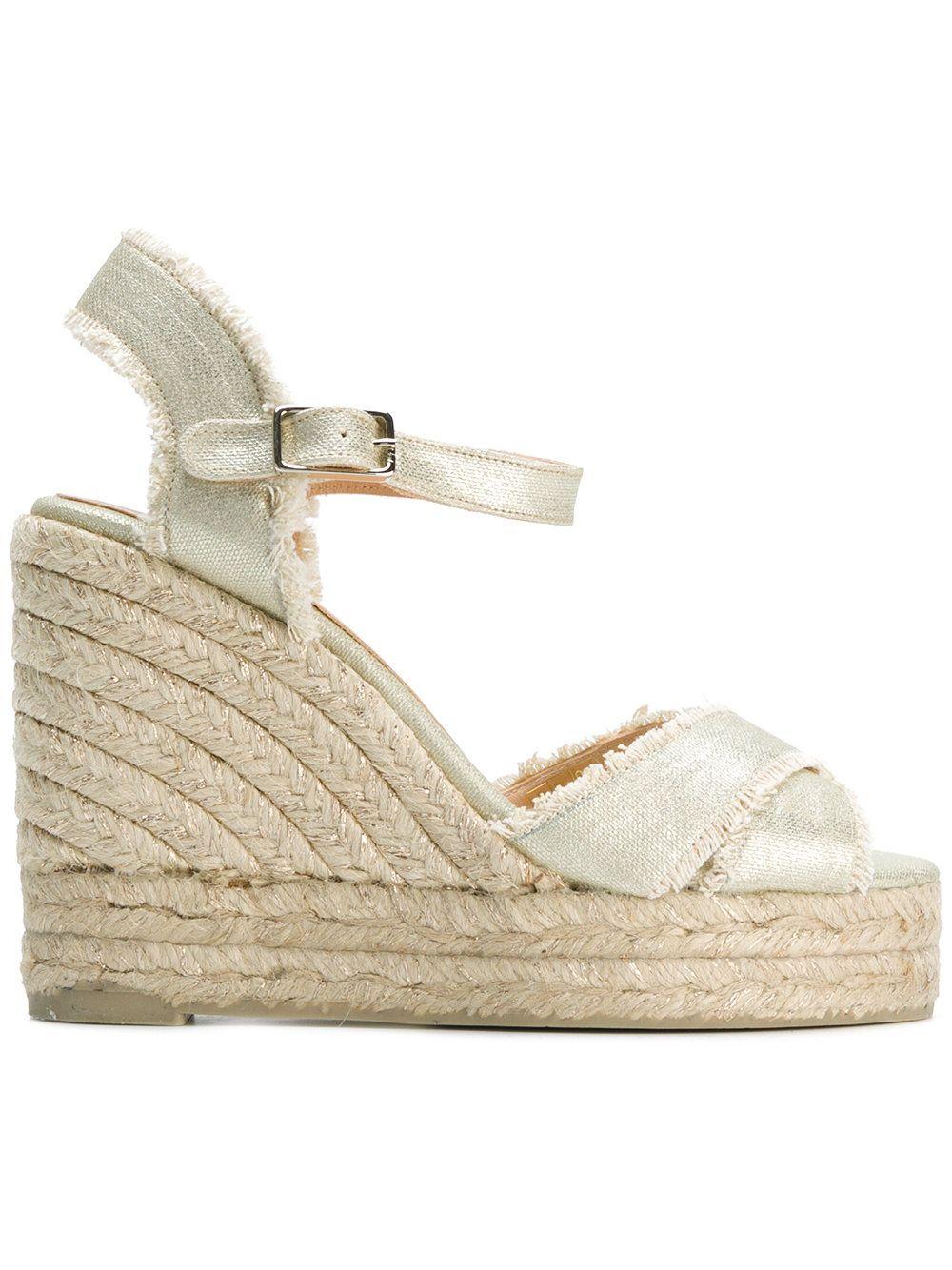 wedge espadrille sandals - Nude & Neutrals Castaner Discount Hot Sale Cheap 100% Original uhPCb0
