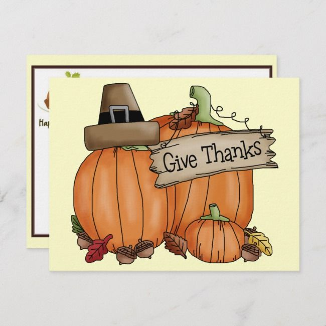 Thanksgiving Holiday Postcard | Zazzle.com #happythanksgiving