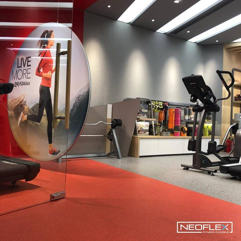 Neoflex 600 Series Fitness Flooring At A Life Fitness Asia Pacific Limited Concept Store In Indonesia Courtesy O Floor Workouts Fit Life Fitness Applications