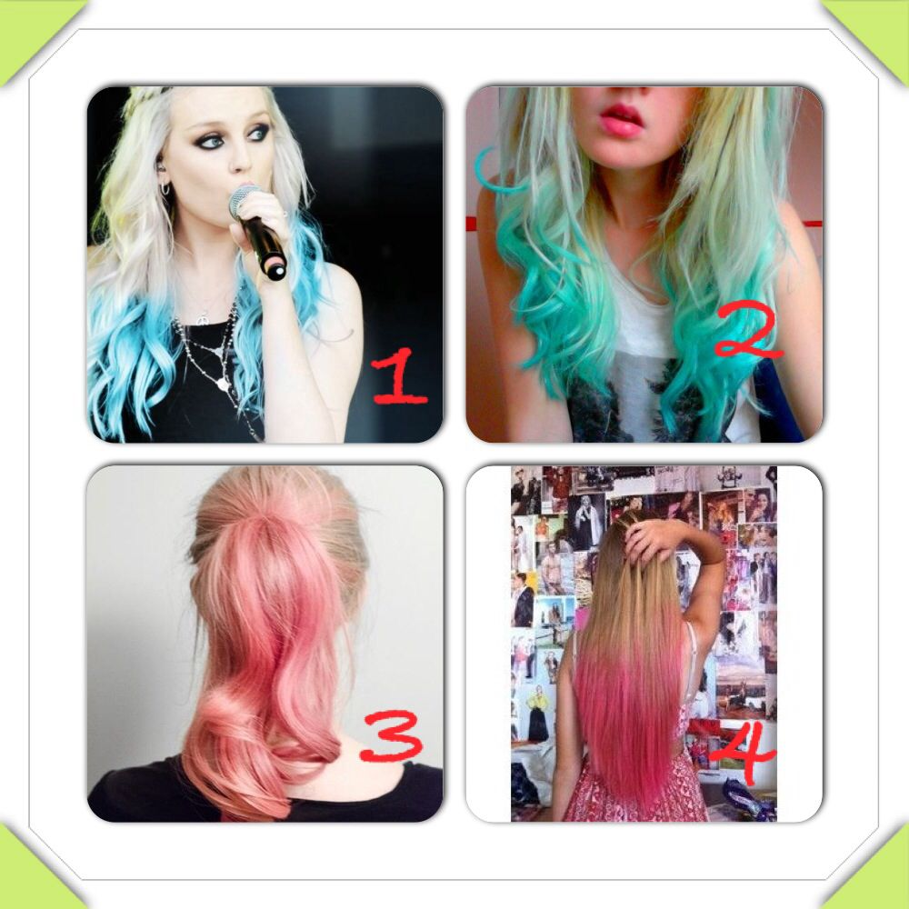 What Colour Should I Dip Dye My Blonde Hair My Fav Are 1 And 2