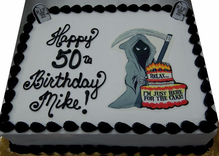 Grim Reaper Cake Over The Hill Cakes Cake Halloween Cakes
