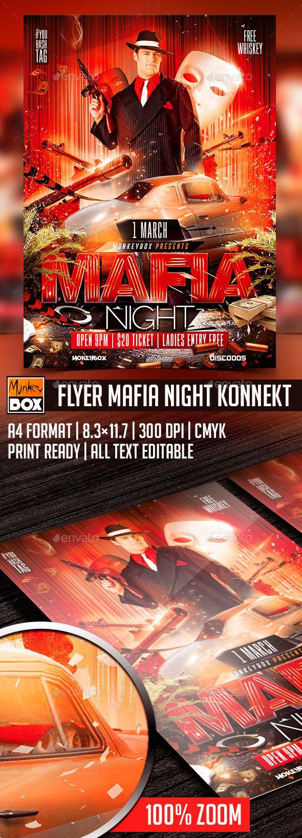 Flyer Mafia Night Konnekt Flyer, Mafia, Night