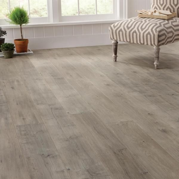 Trafficmaster Eir Ashcombe Aged Oak 8 Mm Thick X 7 11 16 In Wide X 50 11 16 In Length Laminate Flooring 21 63 Sq Ft Case Hl1258 The Home Depot Home Depot Flooring Oak Laminate Flooring Flooring