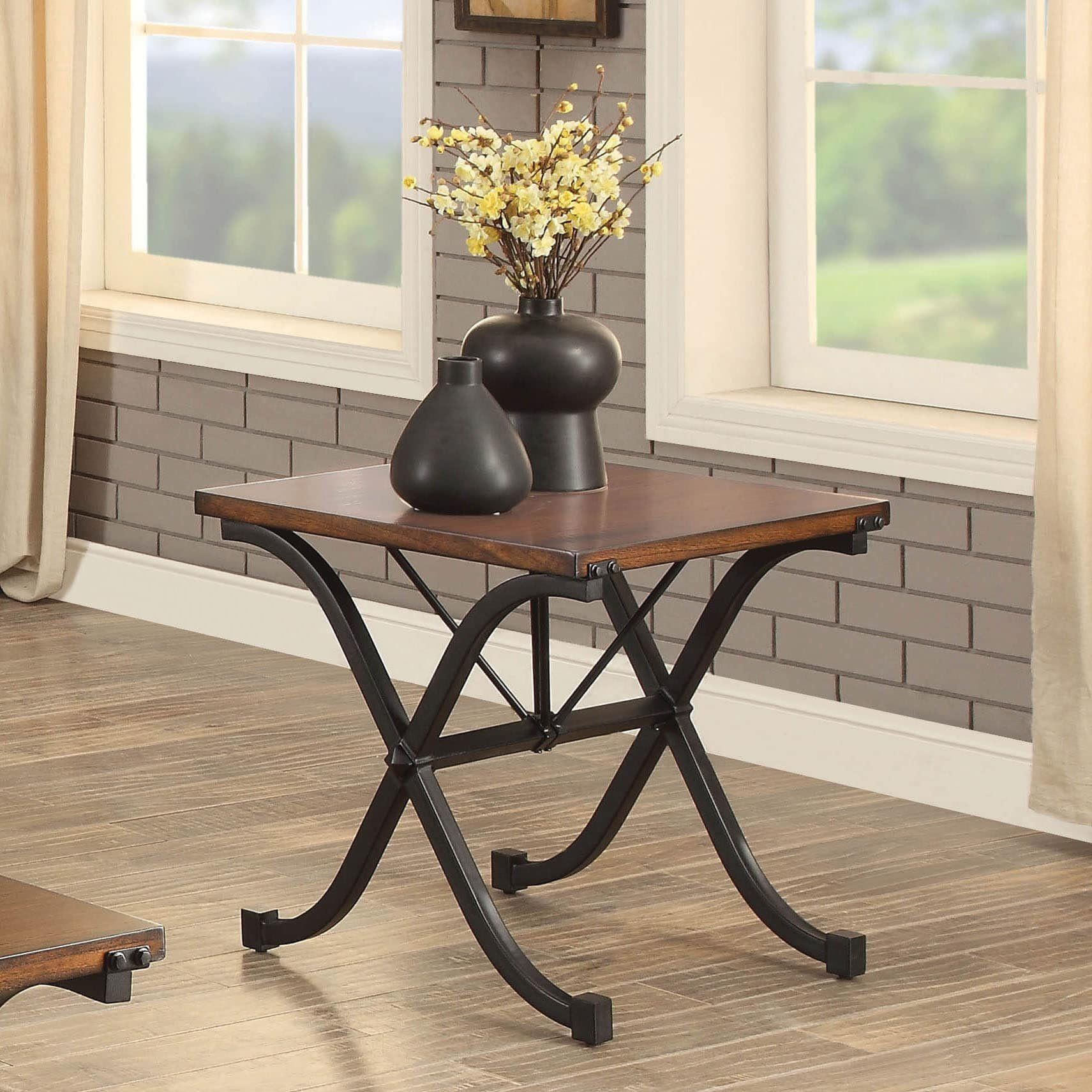 Furniture Of America Kesha Industrial 3piece Dark Oak Coffee And End Table Set Be Sure To Examine Out This Coffee And End Tables Furniture Of America Table [ 1711 x 1711 Pixel ]