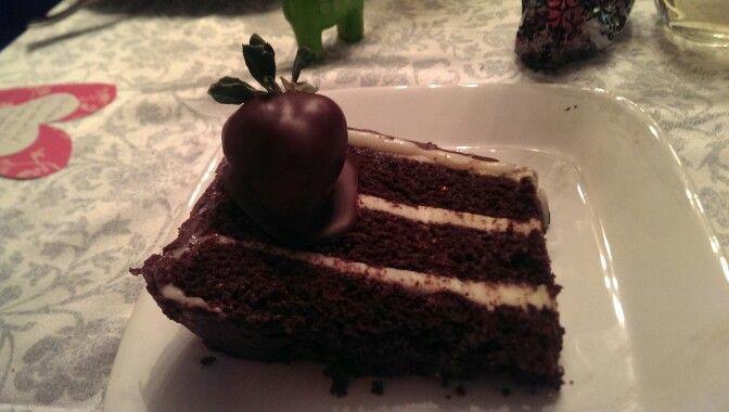 Paleo Chocolate cake with lemon cream filling and Ganache