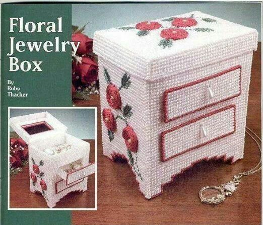 Sweet Little Jewelry Box Pattern In Plastic Canvas by