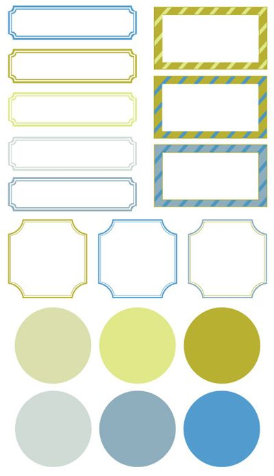 turquoise and gold labels http\/\/wwwi-do-it-yourself\/2010\/05 - blank label template