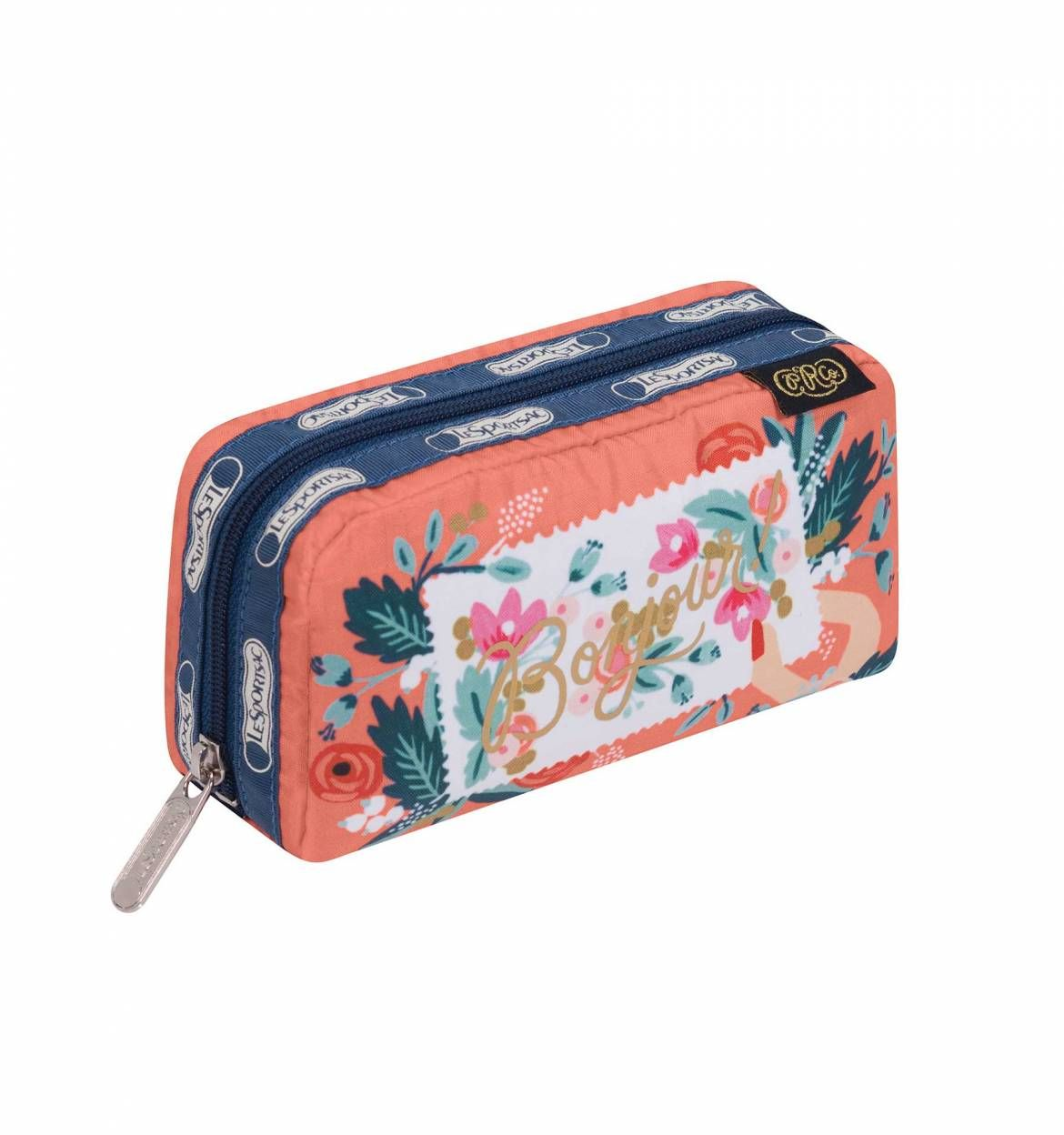 Everyday Bonjour Print Rectangular Cosmetic Bag By Lesportsac And Paper Co 25