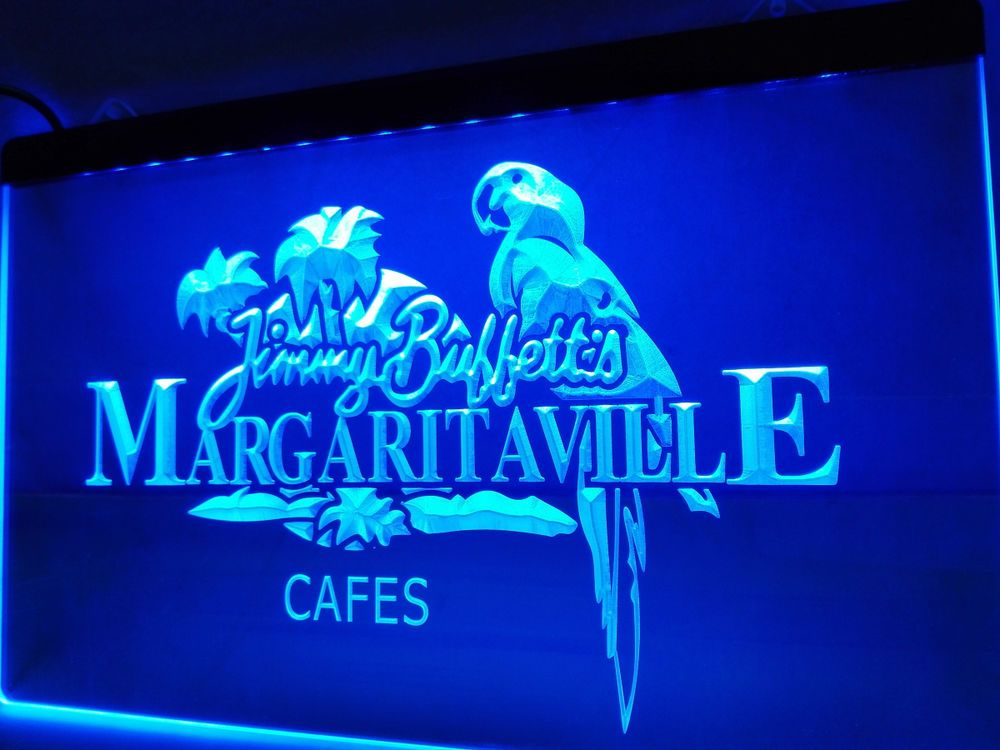 Led Sign Home Decor Custom Le110 Jimmy Buffett Margaritaville Led Neon Light Signneon Beer Inspiration Design