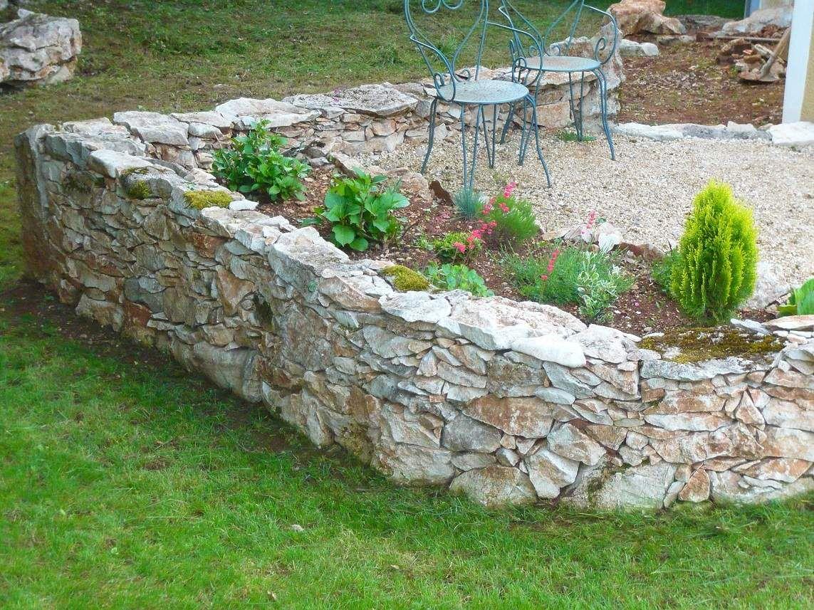 Murets en pierres s ches dry stone wall jardin for Petit muret de jardin