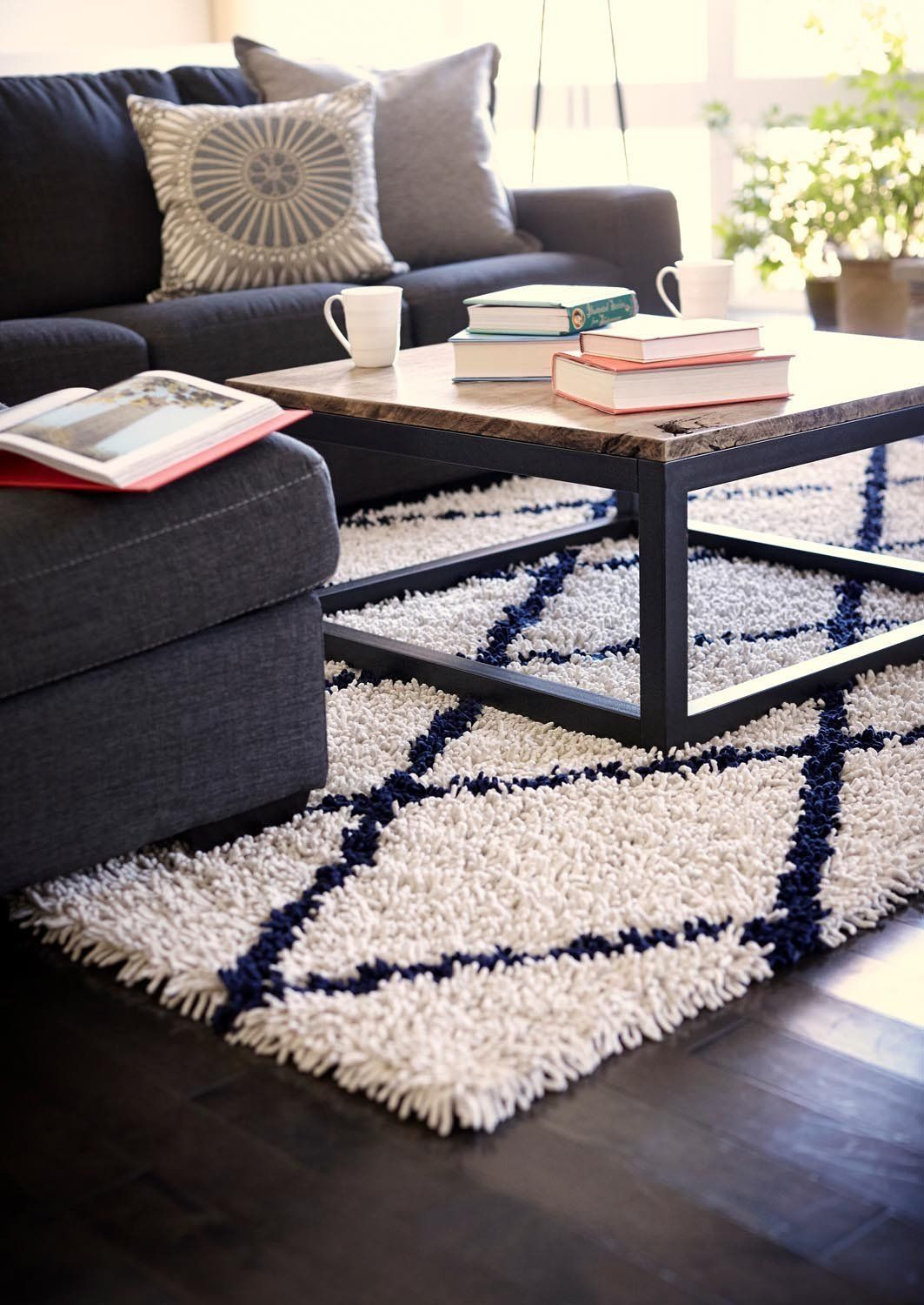 The Amb0658 Area Rug From Anji Mountain Features A 50 Rayon Made From Bamboo And 50 Cotton Pile A Blue And White Rug Rugs In Living Room Navy Rug Living Room