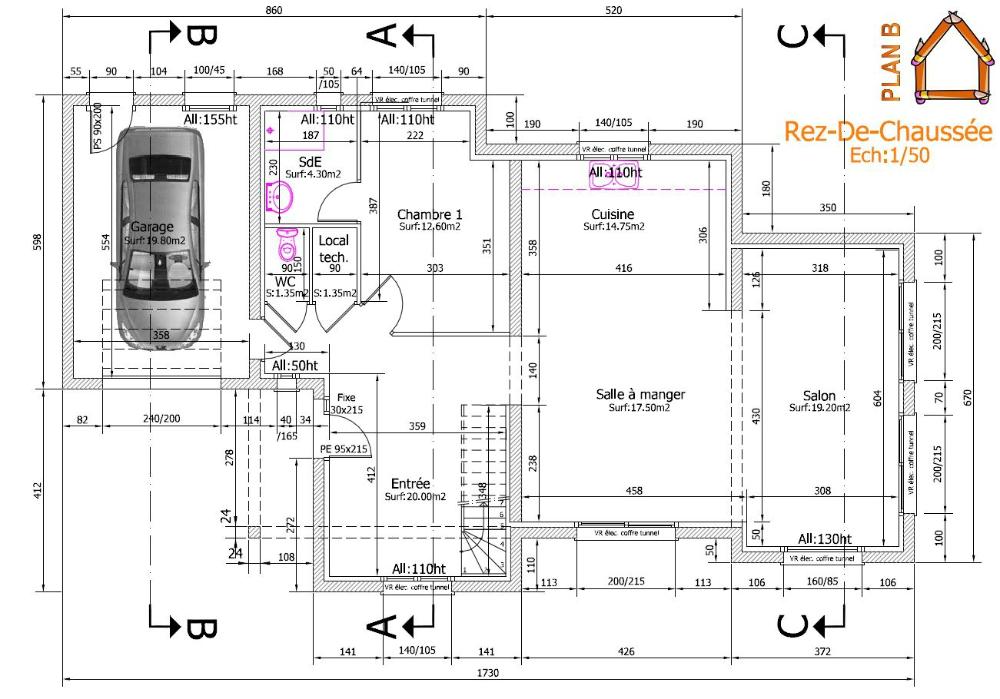 Plan D Une Maison En L Plan Maison Plan Dune Maison Plan Maison 4 Chambres