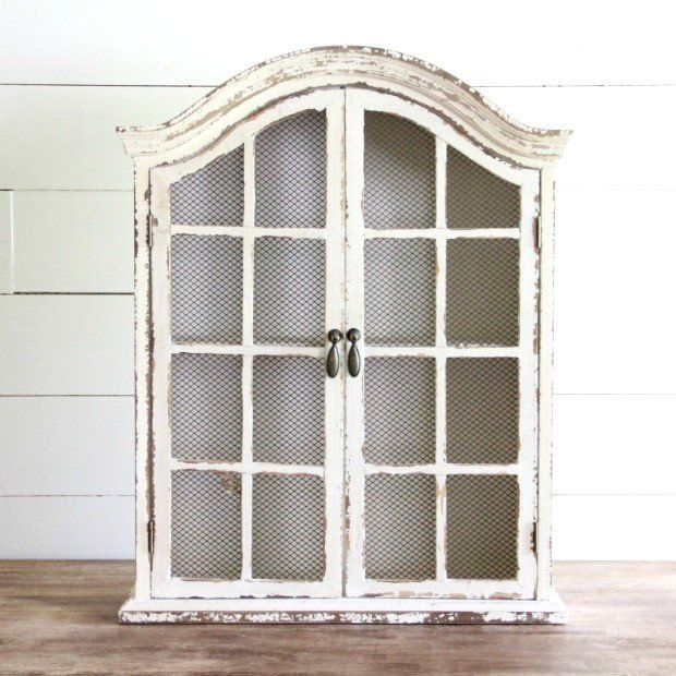 Wire Mesh Wall Curio Cabinet