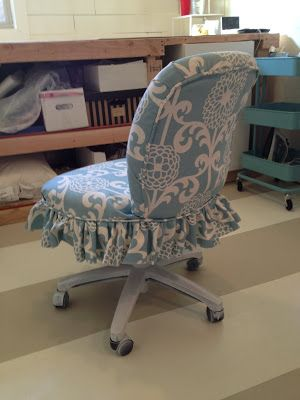 The Sewing Nerd   Ugly office chair makeover   This lady can work magic.