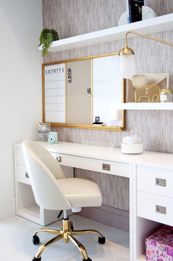 Teen Bedroom Ideas - Niedlicher Schreibtischbereich für Teenager-Mädchen. #kidbedrooms Teen Bedroom